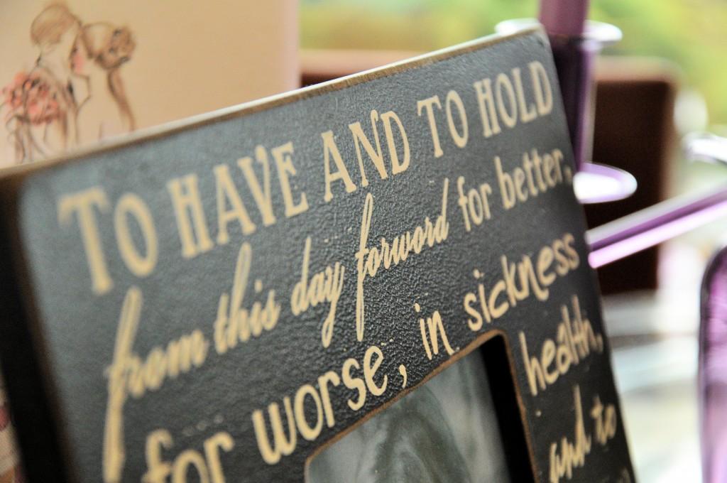 Apt wording on a gorgeous photo frame